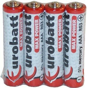 Baterie R03 1,5V AAA R3 MAX POWER op 4 szt