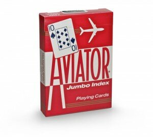 Karty Aviator Jumbo Index Czerwone
